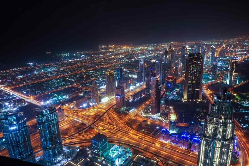 最先端都市の夜景