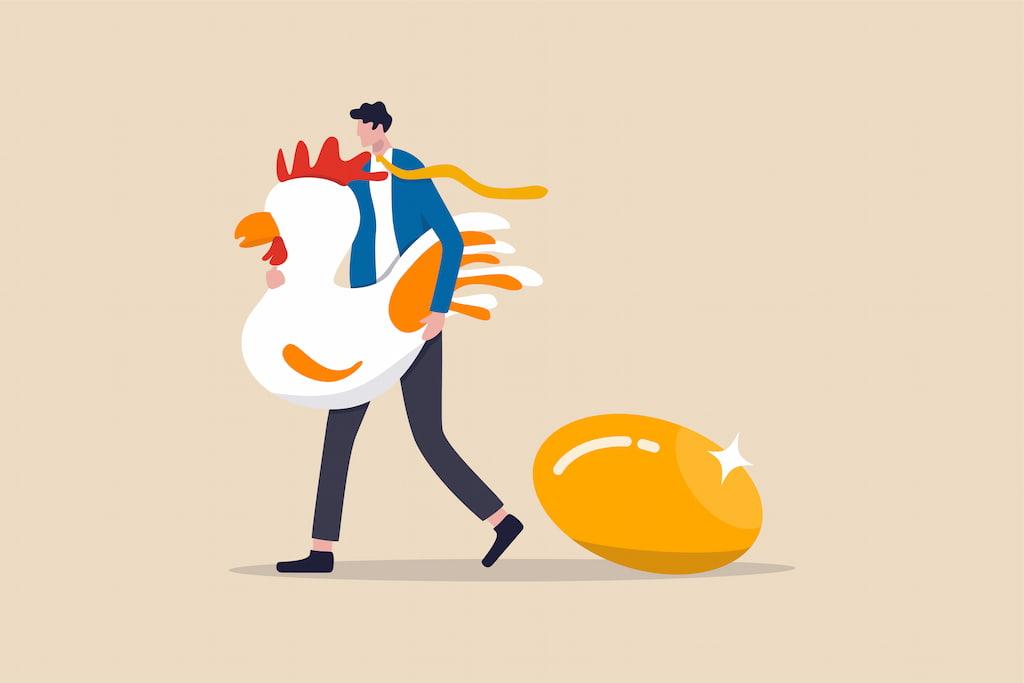 金の卵を産む鶏