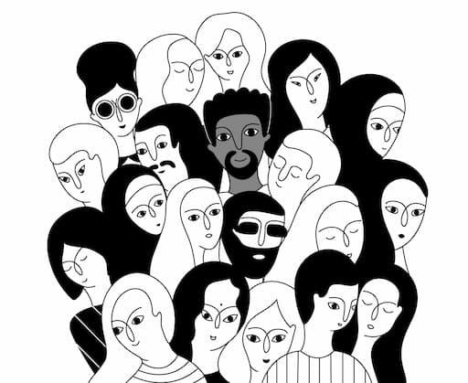 多種多様な人間の顔